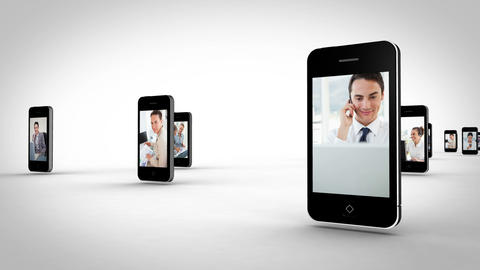 Videos of business people on the phone Animation