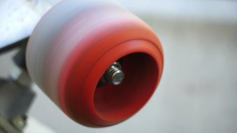 1793 VIntage Skateboard Wheel Spinning, HD Footage