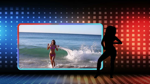 Videos of women dancing at beach Animation