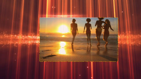 Happy moment on the beach Animation