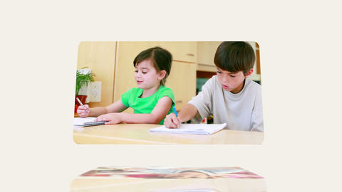 Daily Life Of A Young Boy stock footage