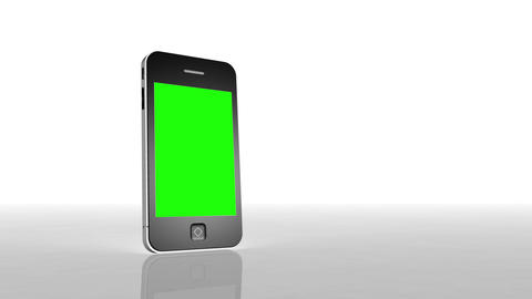 Chroma key screen of a smartphone Stock Video Footage
