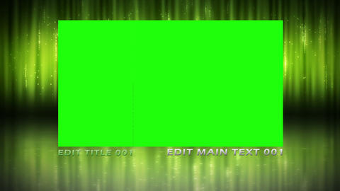 Modern animation with chroma key screen and text space Animation