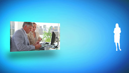 Cooperation between colleagues Stock Video Footage