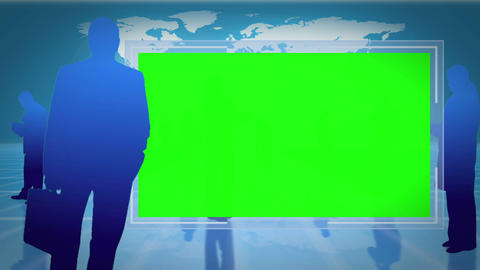 Screens with chroma key space with an Earth image Stock Video Footage