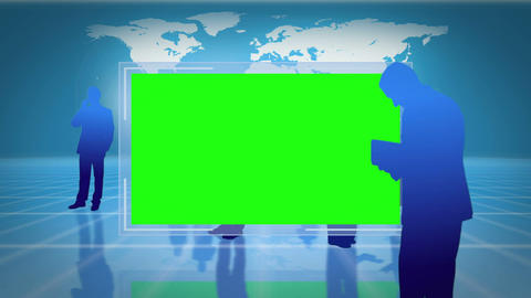 Screens with chroma key space with an Earth image  Animation