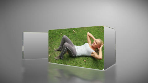 Woman working out in a park Animation
