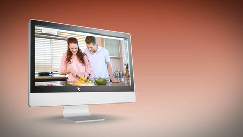 Couples in their kitchen Animation