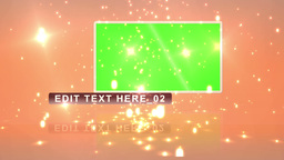Screens with chroma key and text space against ora Animation