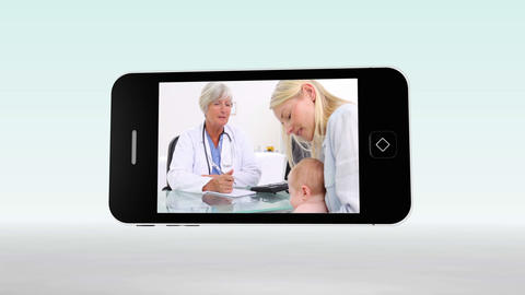 Medical videos on a smartphone Animation
