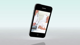 Medical videos on a smartphone Stock Video Footage