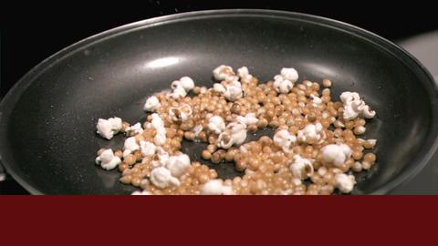 Videos of popcorn popping Animation