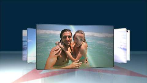 Couple having fun at beach Stock Video Footage