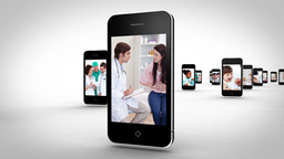 Videos of a hospital on smartphones Animation