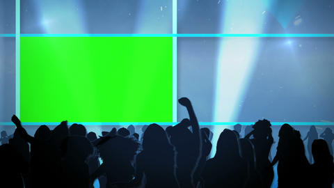 People dancing and chroma key spaces Animation