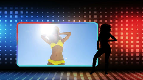 Videos of a woman dancing on the beach Animation