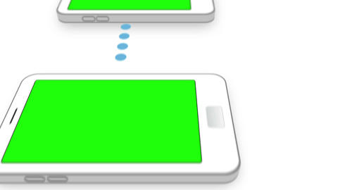 Copy spaces on smartphones screens Animation