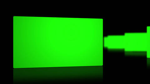 Chroma key screen against black background Stock Video Footage