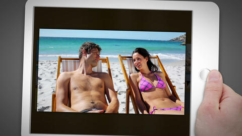 Couple spending their time on the beach Animation