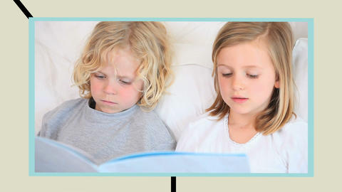 Families reading books Animation