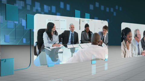 People in suit working together Animation