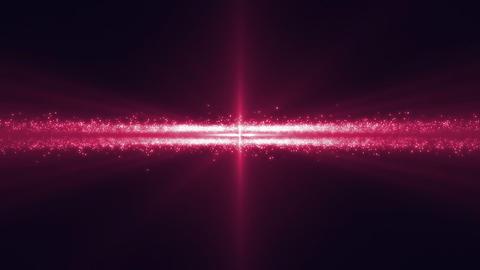Spaceship in asteroid belt under pink light Stock Video Footage