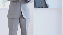 Businessman using a tablet computer Stock Video Footage