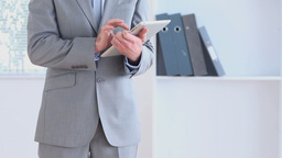 Businessman using a tablet computer Footage