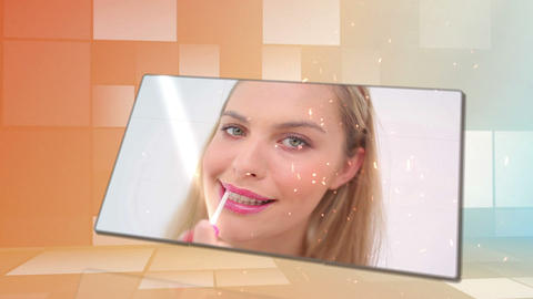 Beauty videos with an orange background Stock Video Footage