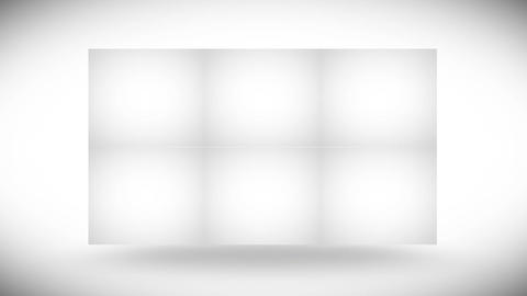 Blank cubes turning Stock Video Footage