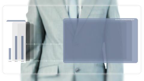 Man scrolling blank screens, Stock Animation