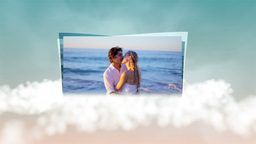 Videos of couple in honeymoon on clouds Animation