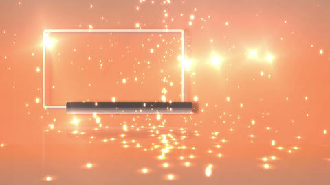 Empty frame with orange background with sparkles Stock Video Footage