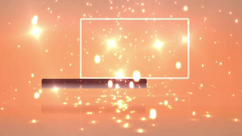 Empty frame with orange background with sparkles Animation