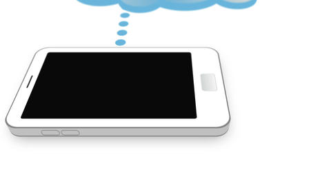 Cloud connected with smartphone Stock Video Footage