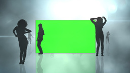 Chroma key screens with silhouette dancing Animation
