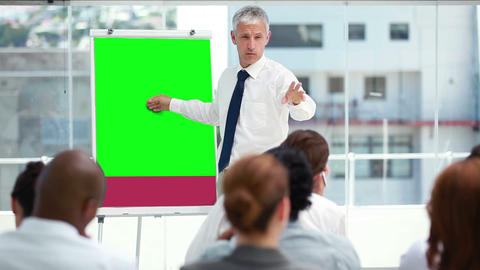 Video of business people in a meeting Animation