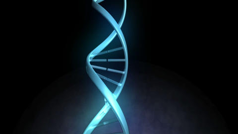 DNA image next to a screen Stock Video Footage