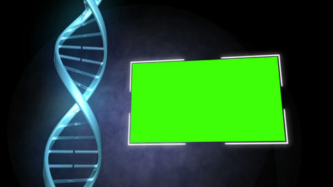 DNA image next to a screen Animation
