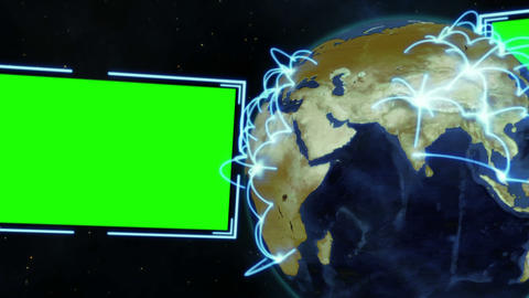 Screens with an Earth image courtesy of Nasa.org Stock Video Footage