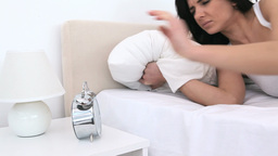 Woman getting up Footage