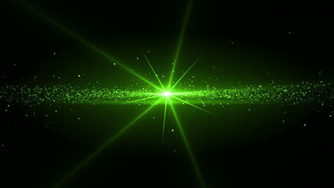 Video of a green star shining Animation