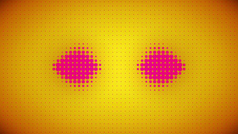 Video of pink and yellow dots Animation