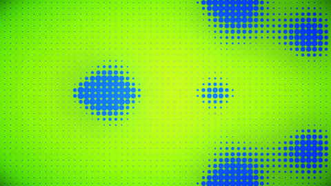 Video of blue and green dots Animation