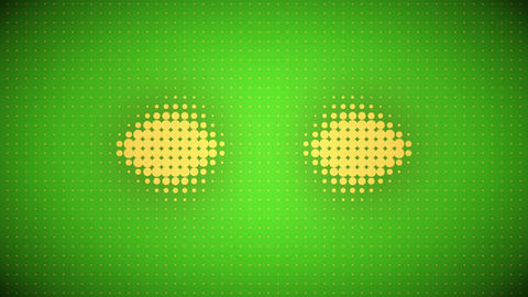 Video of green and orange dots Animation