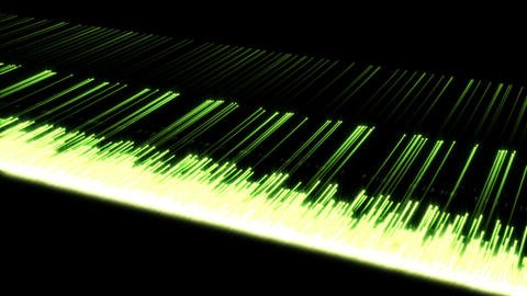 Video of multiple green lines Animation
