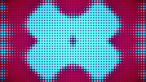 Video of pink and blue dots Stock Video Footage