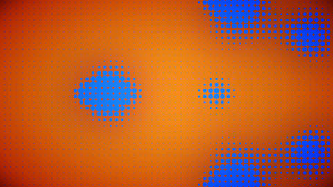 Video of blue and orange dots Animation