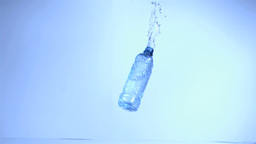 Bottle in plastic rebounding in super slow motion Stock Video Footage