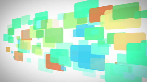 Blue and green rectangles moving Animation